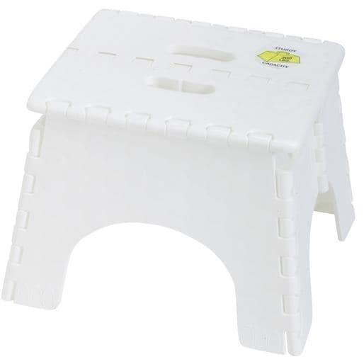 B & R Plastics Folding Step Stool 101-6 Unit: Each, White
