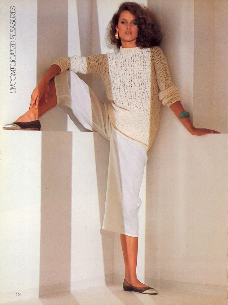 US Vogue December 1980 Pure & Simple Delights--in White ...