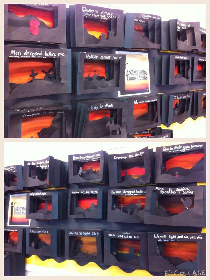 ANZAC tunnel books with Haiku poems http://www.teachkidsart.net/tunnel-books/