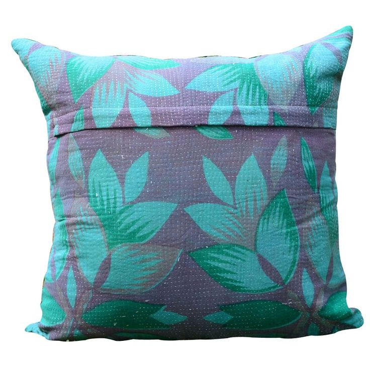 PATCHWORK ONE FLORAL KANTHA CUSHION