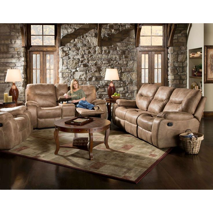 Serasa Three Piece Living Set: Sofa, Loveseat, Recliner