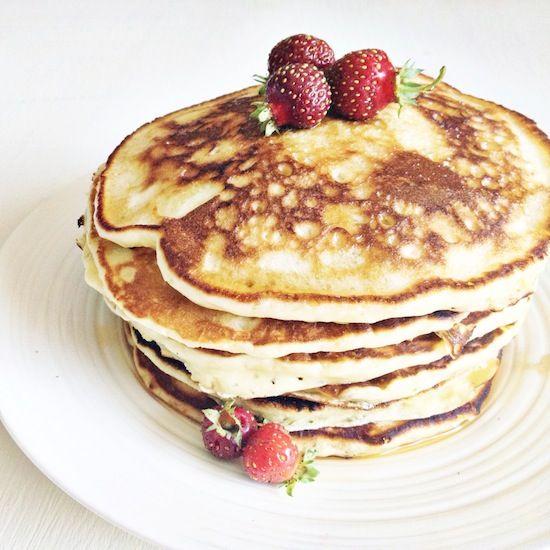 Angel Cakes - fluffy buttermilk pancakes by Fraiche Nutrition!
