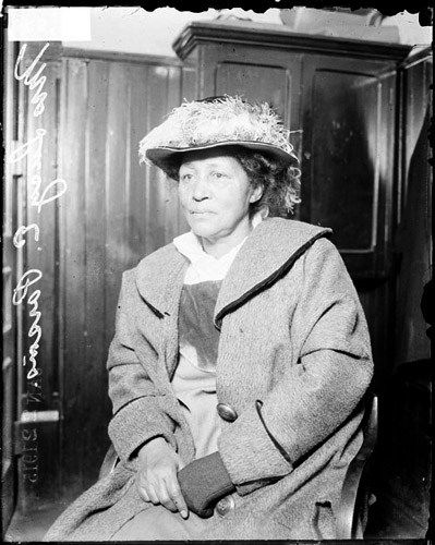 Lucy Parsons after her arrest for rioting during an unemployment protest at Hull House in Chicago, Illinois, 1915. Photo Credit: Chicago Historical Society