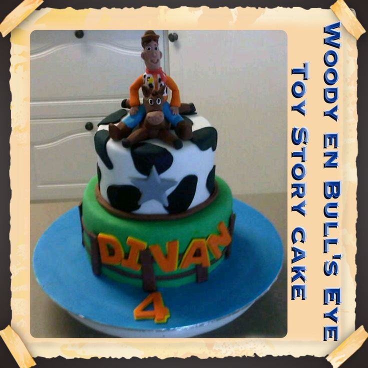 Toy Story with Woody and Bull's Eye Cake
