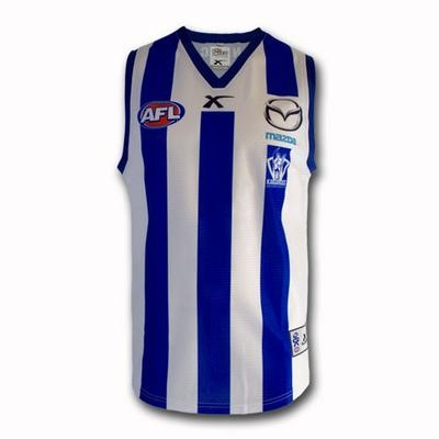 2013 North Melbourne Kangaroos Guernsey - Home Youth $90