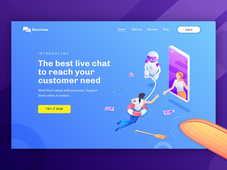 Live Chat Software - Hero Illustration concept