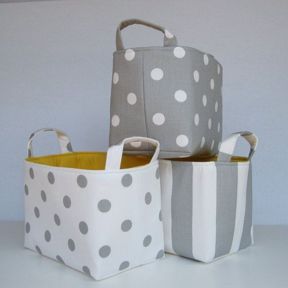 Fabric storage organisers by Studio Collection. Nursery.