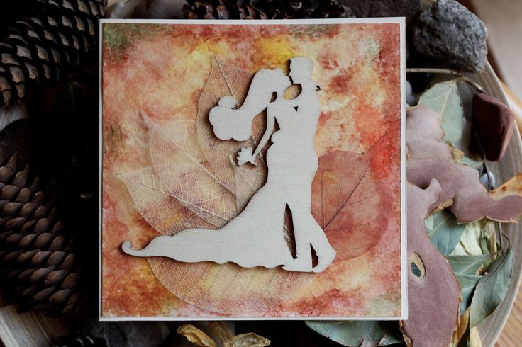 Wedding card, autumn