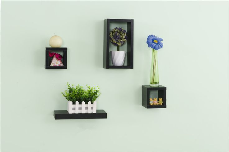 These shelving units boast a simple yet attractive look and can really maximize your space.They offer a perfect choice to display photos, candles, ornaments, mirrors, books, vase and etc, or to store any belongings that would otherwise clutter up your home.It will add a stylish decor to your home.