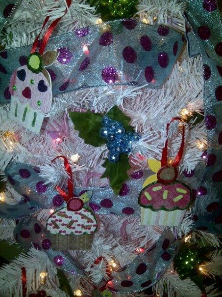 Cupcake ornaments: Cupcake Tree, Cupcakes Ornaments, Cupcakes Rosa-Choqu, Cupcakes Trees