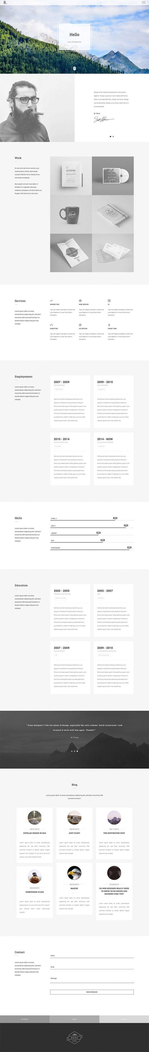 OAK is a #free #HTML #portfolio #template designed by EliteFingers. This template is a great solution for designers, architectures, photographers and any kind of creative people who need a website for showcasing their own works.