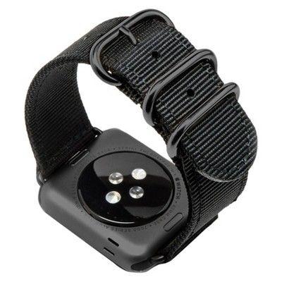 Monowear Black Nylon Band with Dark Gray Stainless Steel Adapter For 42Mm Apple Watch Sport - Black ( 8132149 )