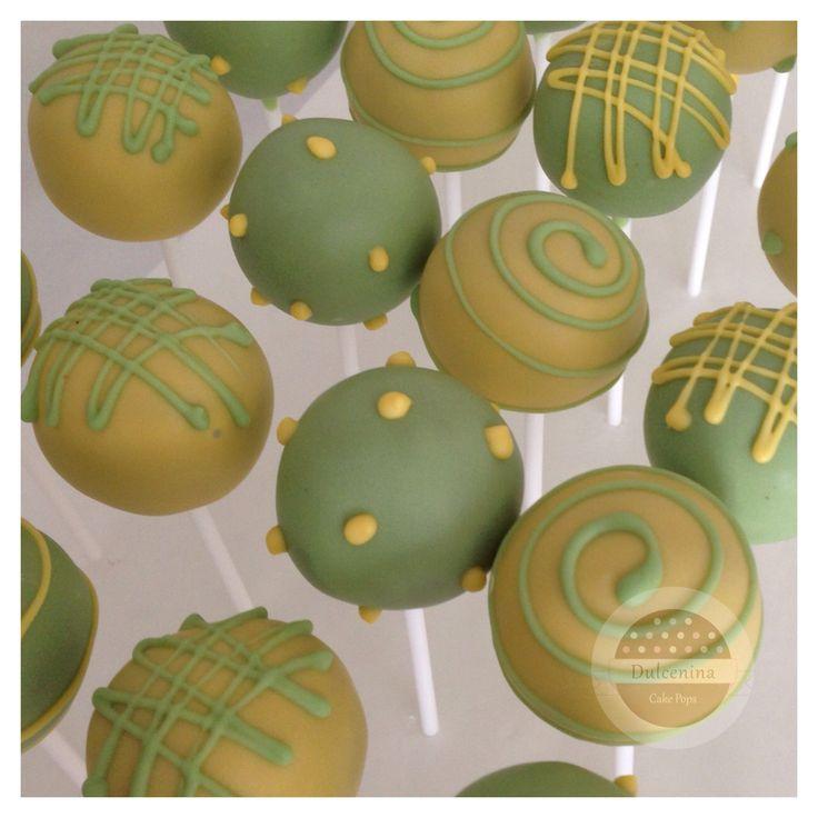 Cake Pops verde y amarillo