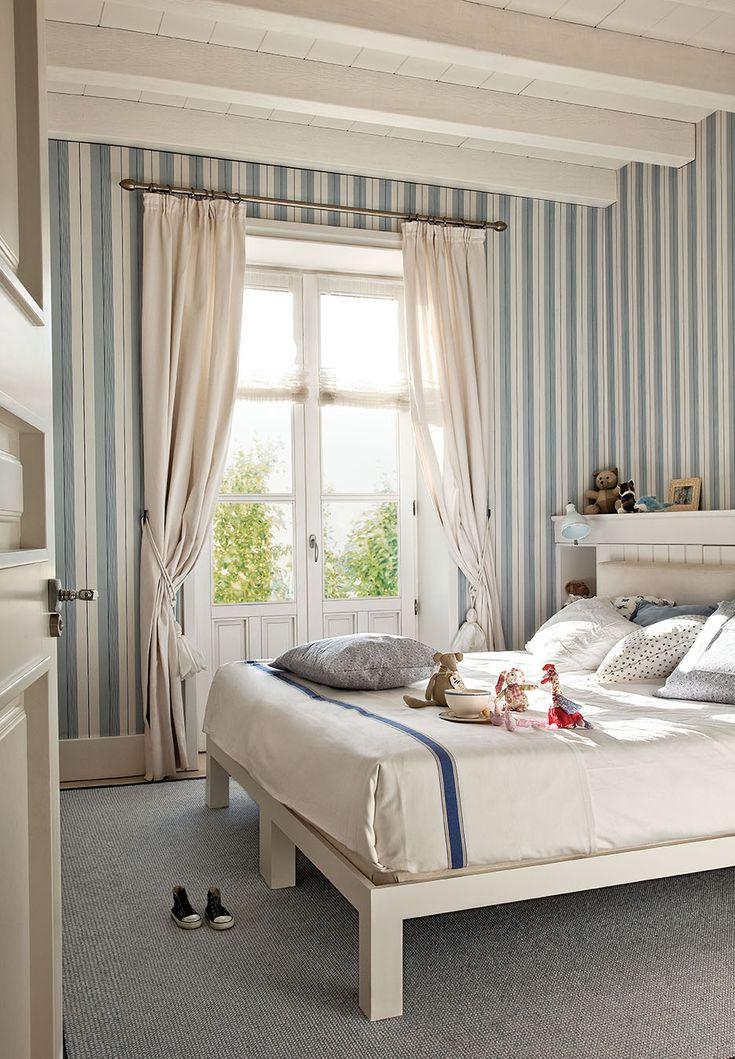 17 mejores ideas sobre papel pintado a rayas en pinterest - Dormitorios pintados a rayas ...