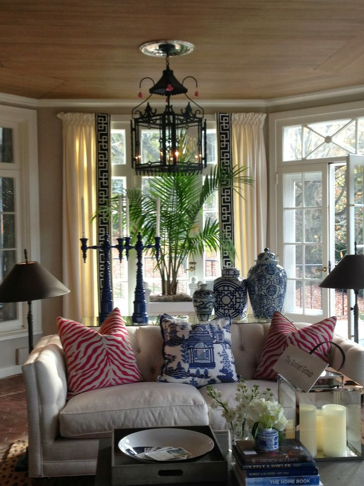 Living room beige red blue homes and rooms pinterest for Red living room ideas pinterest