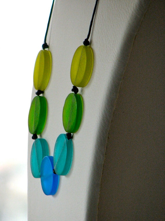 blue and green necklaceJewelry Necklaces, Blue Green, Green Necklaces, Green Magic