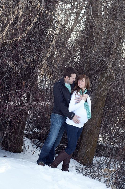 Winter maternity photo shoot ideas