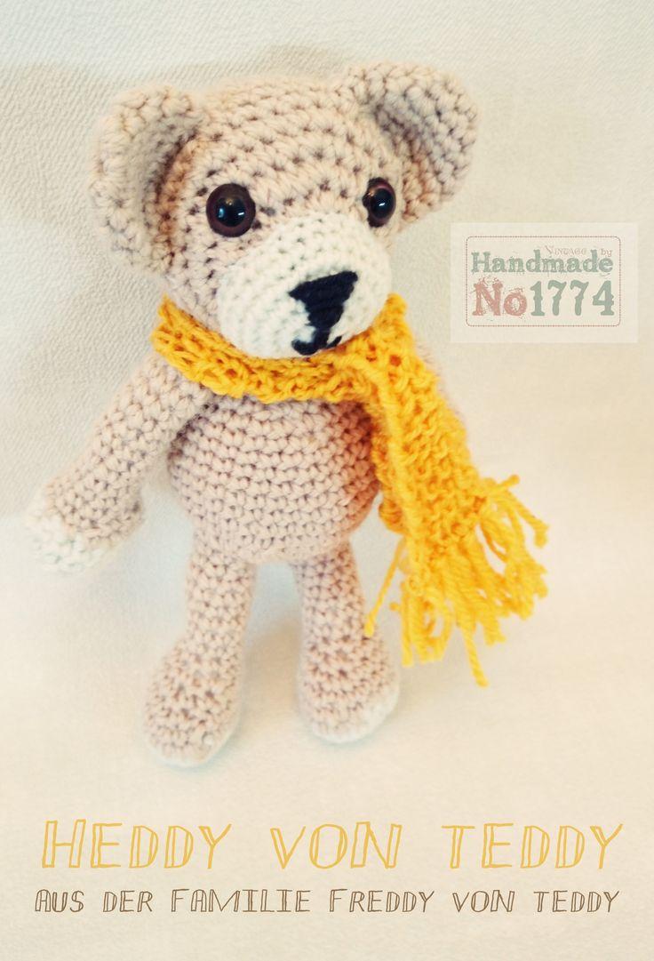 Kuscheltier - Teddy - Bär - Winter - Schal - crochet stuffed animal - crochet - gehäkelt - Kind - Baby - Photoprops