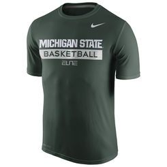 Men's Nike Green Michigan State Spartans Basketball Practice Performance T-Shirt