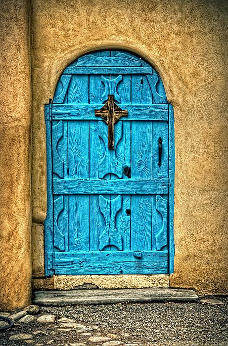 Taos Blue Door - by Ken Smith