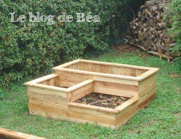 Carré Potager En Bois De Palette / Square Planter Made Of Wooden Pallet