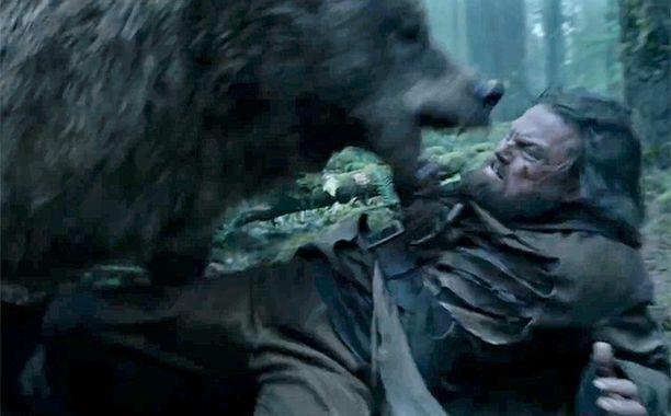 The Best Movie Scenes of 2015   1. The Bear Attacks Leonardo DiCaprio in <em>The Revenant</em>   EW.com