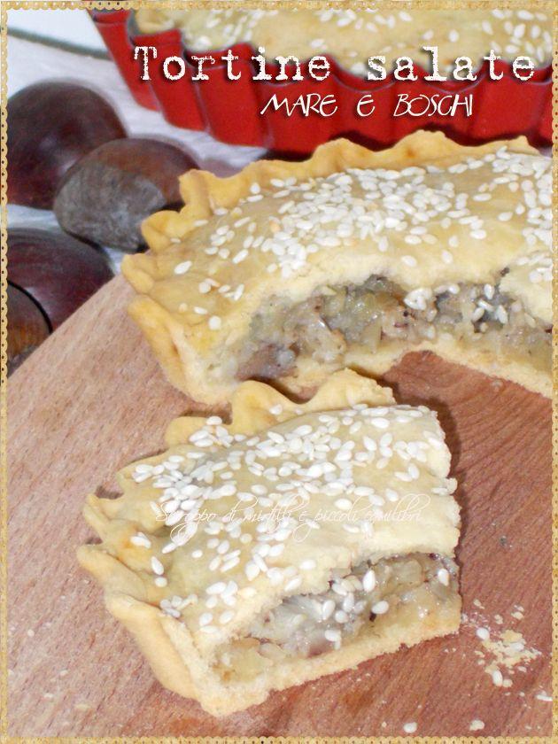 Tortine salate mare e boschi (Mini pies stuffed flounder, mushrooms, chestnuts and hazelnuts)