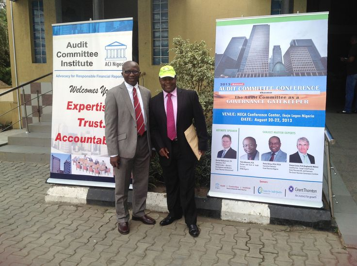 Barnabas Chirombo attending the Audit Committee Meeting in Lagos, Nigeria to show the benefits of ACL technology
