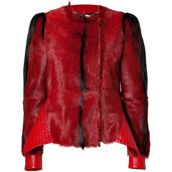 JUST CAVALLI Leather/Fur Jacket found on Polyvore