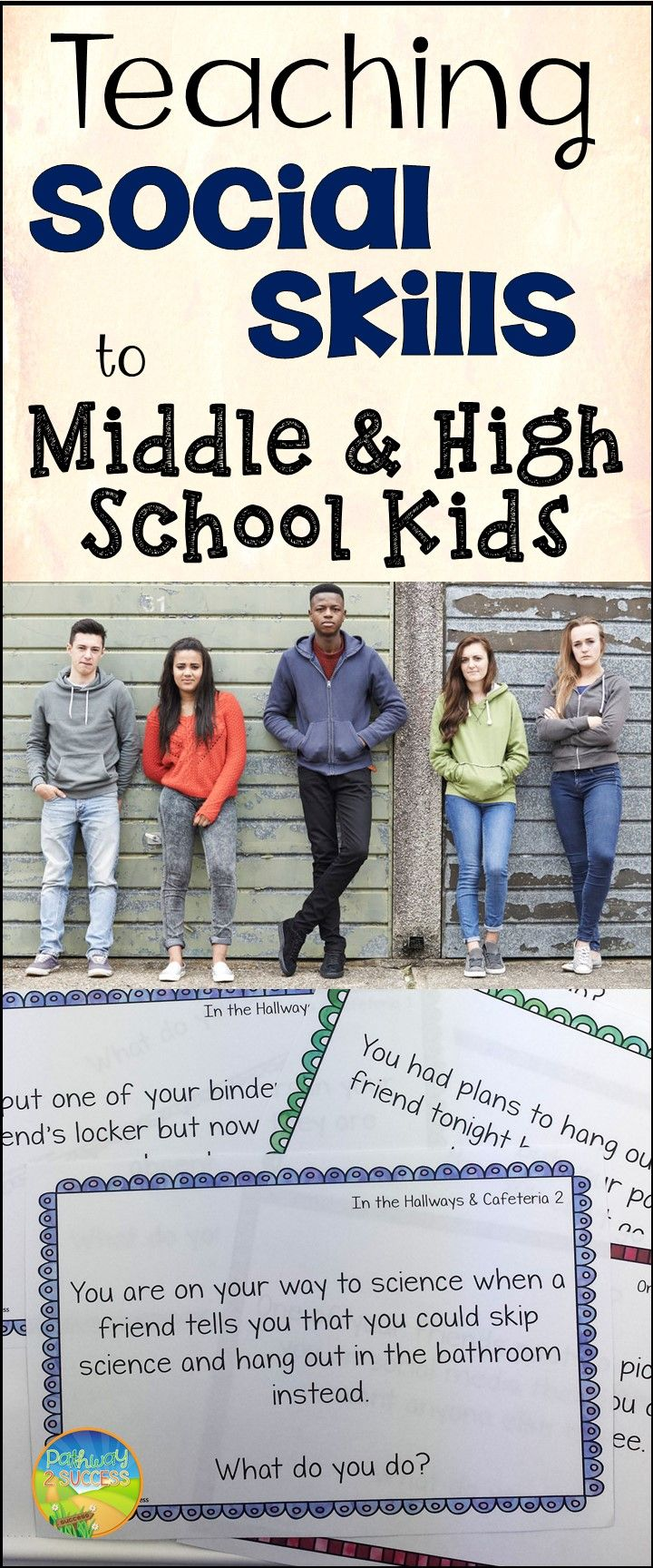 """""""Kids CAN learn social skills, regardless of their age,"""" says middle school teacher and TpT Teacher-Author Pathway 2 Success. See her tips here."""