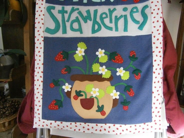 """1/ Panneau """"fraises"""" en cours"""