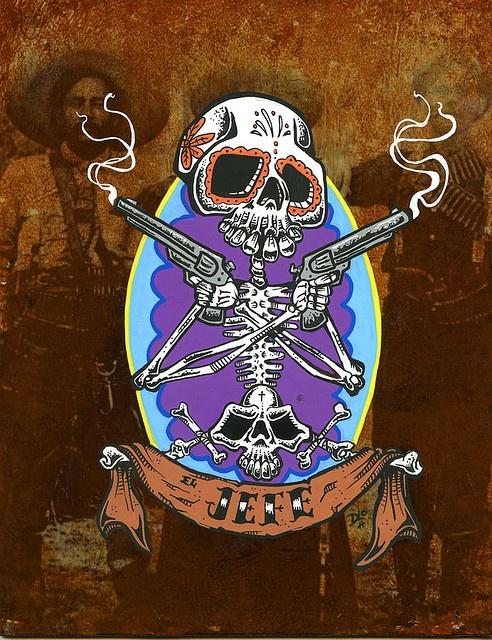 El Jefe painting found on www.davidlozeau.com