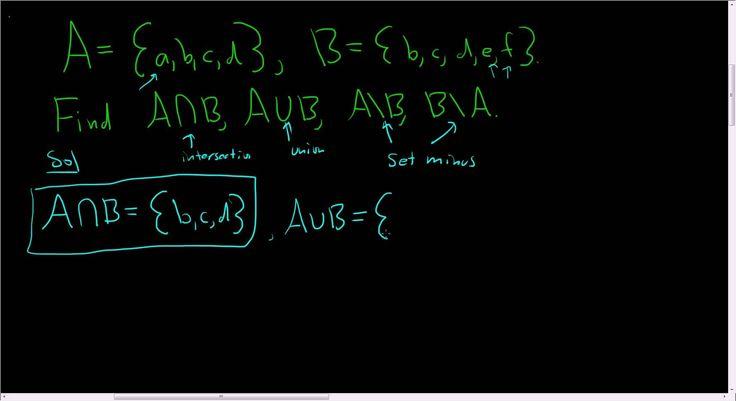 Basic Set Operations: Union, Intersection, and Set Minus