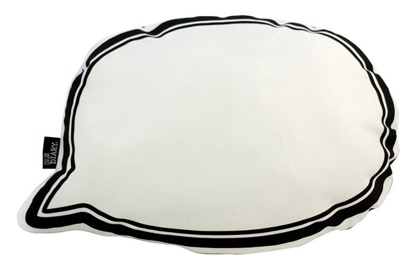 Speech Bubble Softie Cushion Black| Krinkle Gifts