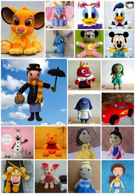 Supongo que, en mayor o menor medida, tod@s hemos crecido con los personajes de Disney.Es por eso que os traigo Más de 40 Personajes Disney Pixar con Patrón en Castellano Gratis. Podemos encontrar desde personajes clásicos de Disney, como Mickey, Minnie, Donald y Daisy hasta nuevos personajes de Pixar, como los personajes de Inside Out ( ...