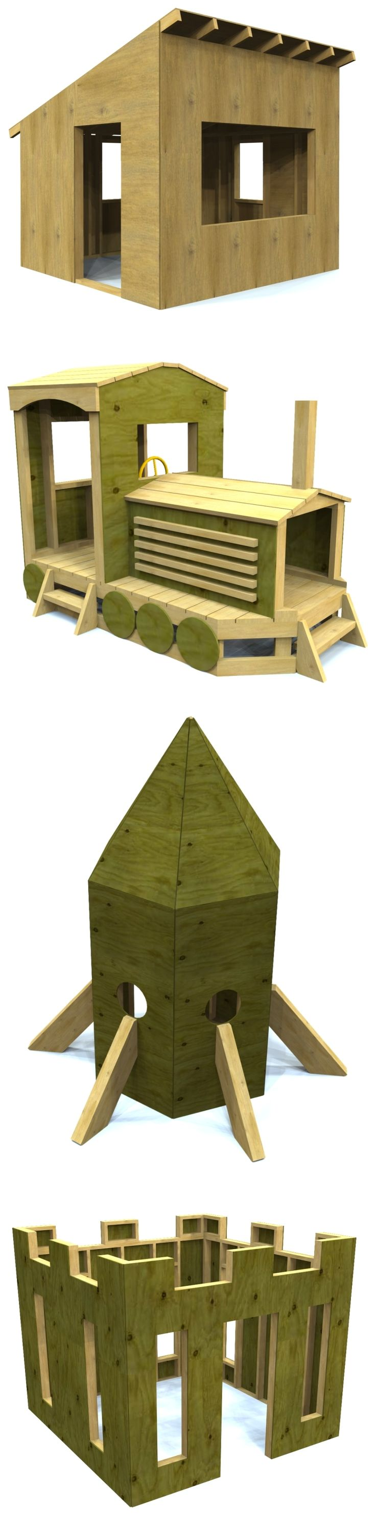 25 best ideas about playhouse plans on pinterest diy for Build your own wooden playset