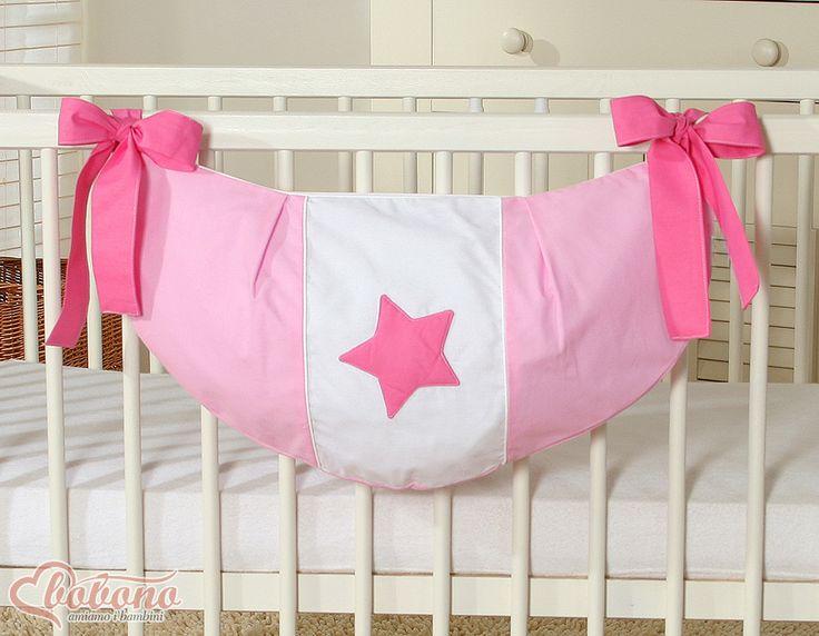 Pink toys bag - stars / Bobono