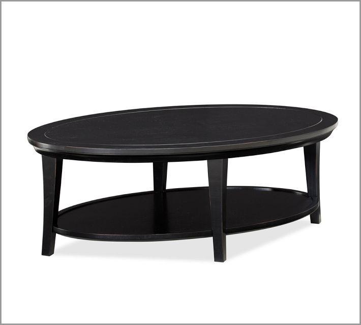 METROPOLITAN OVAL COFFEE TABLE, BLACK