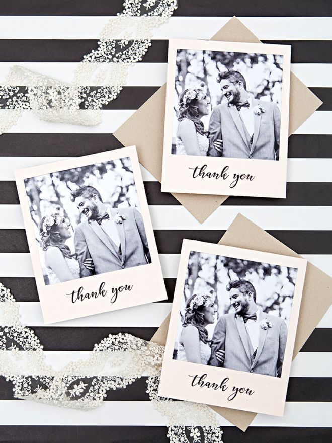 Learn how to print and create your own polaroid style thank you cards! #craftywithcanon