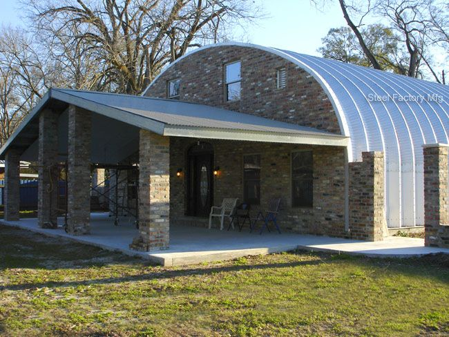 Quonset hut homes plans residential steel homes prefab for Metal barn home kits