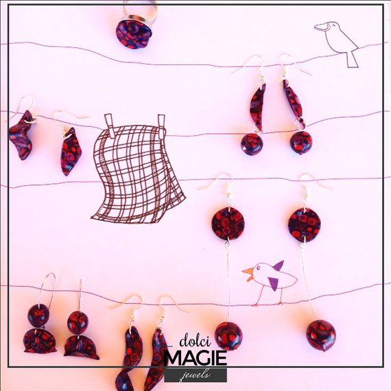 Debora collection collana anello e orecchini di Dolcimagie su Etsy