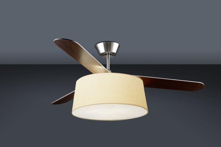 Contemporary Ceiling Fan With Bright Light