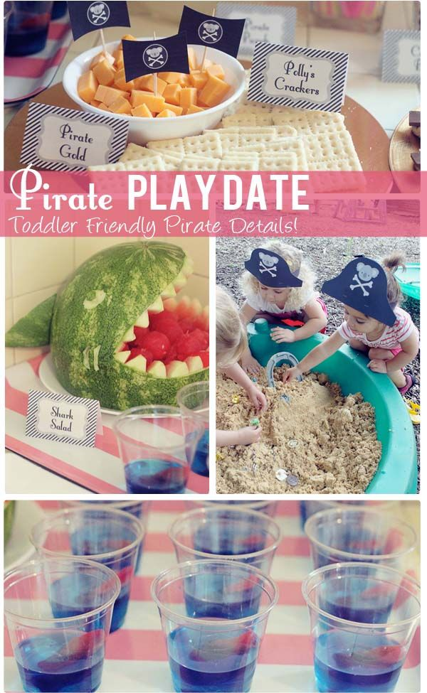 The Busy Budgeting Mama: Pirate Play Date- Toddler Friendly Pirate Details!: Business Budget, Birthday Parties, Pirates Plays, Toddlers Birthday Theme, Pirates Parties, Parties Ideas, Playdat Ideas, Budget Mama, Birthday Ideas