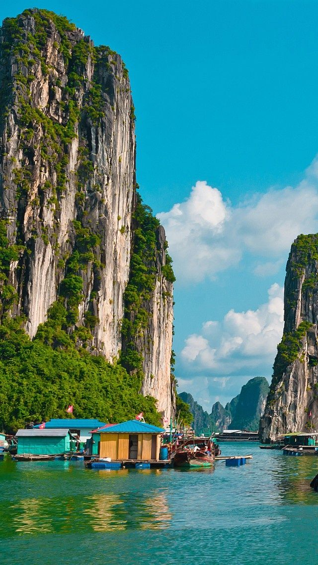Halong Bay, Vietnam Yeah, if I could visit Vietnam, I love to go fishing here:)
