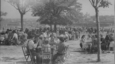 Aspecto de la pradera durante las Fiestas de San Isidro de 1956.