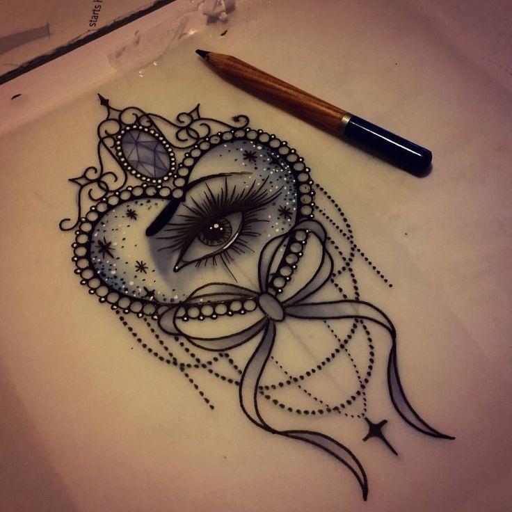 For Rebecca x #tattoo #design #eyetattoo #neotraditional #uktattoo #plymouth #art #hearttattoo #ntgallery #bow #ladytattooers #tattooartist #instadaily