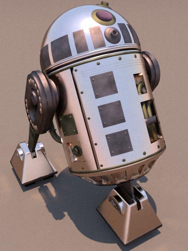 R2D2 Steam Prototype by *ark4n on deviantART