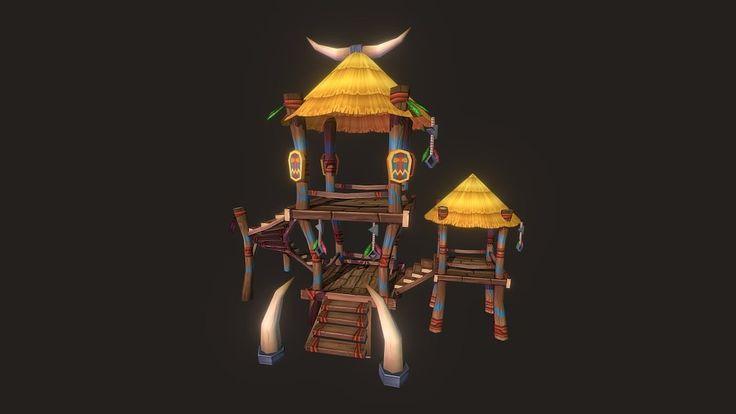 Akazi Shaman Hut by zugzug