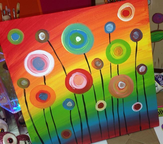 DIY Bild oder Karte mit Blumen – ganz einfach aus …