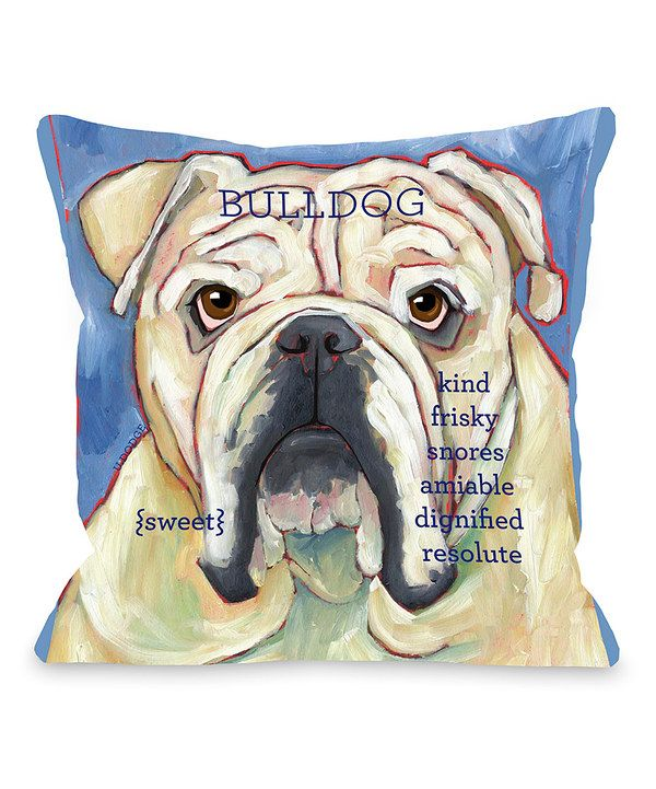 Take a look at this Blue Bulldog Throw Pillow on zulily today!